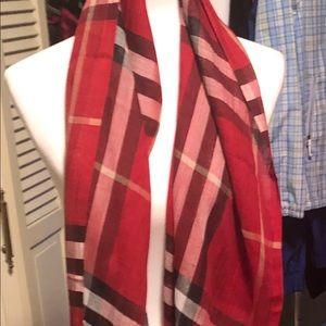 NWT Burberry silk & wool scarf
